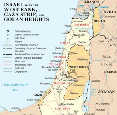 The Map History of Modern Israel Printable Map Of Israel Today on