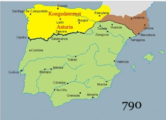 Map Of Spain Under Moorish Rule.Muslim Conquest Of Spain And Reconquista By Spain