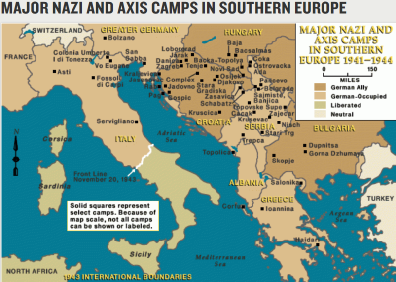 Concentration Camps In Europe Map.Jewish Holocaust Maps And Geographies