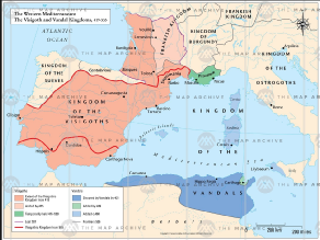 Map Of Spain 711.Spain Visigoths And The Jews