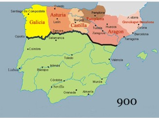 Map Of Spain 8th Century.Muslim Conquest Of Spain And Reconquista By Spain